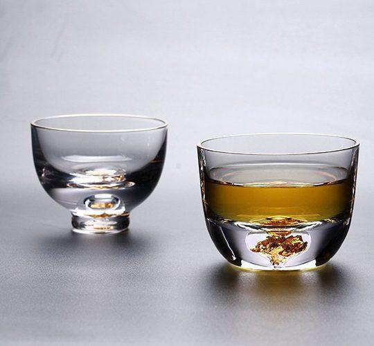 Glas met Bladgoud