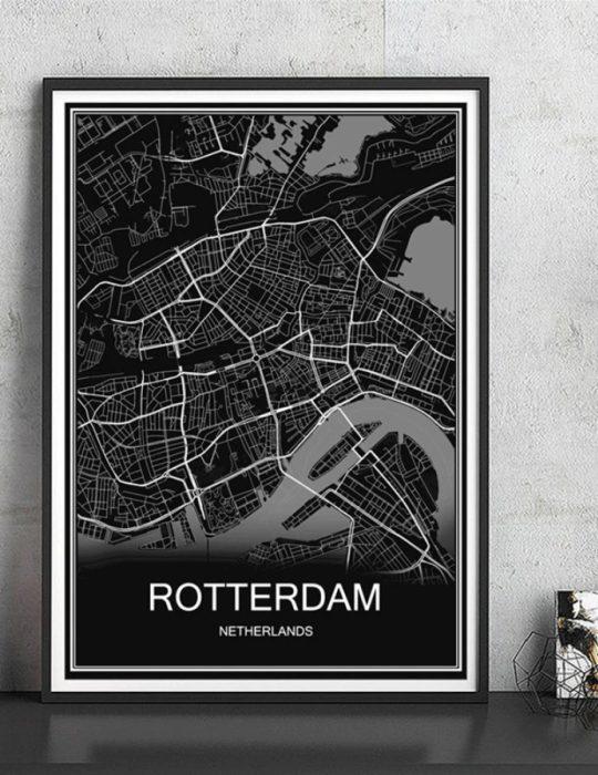 Poster - Rotterdam op canvas