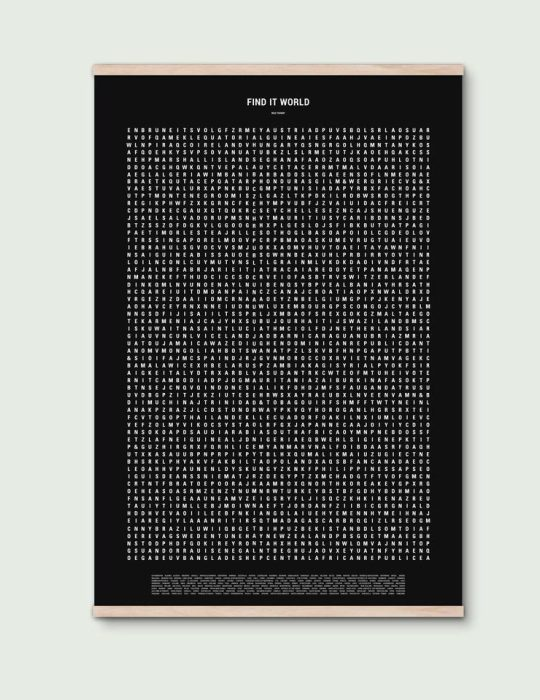 Poster - Woordzoeker alle landen