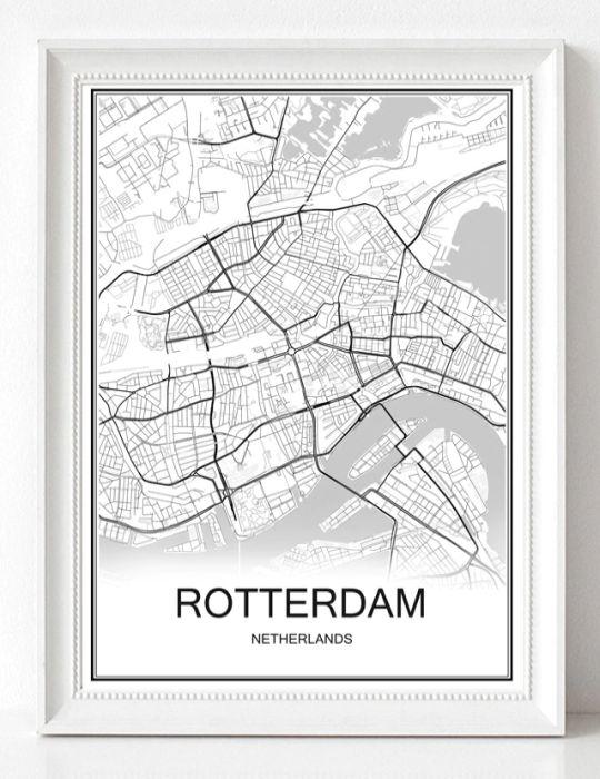 Poster Rotterdam wit