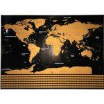poster wereldkaart kras