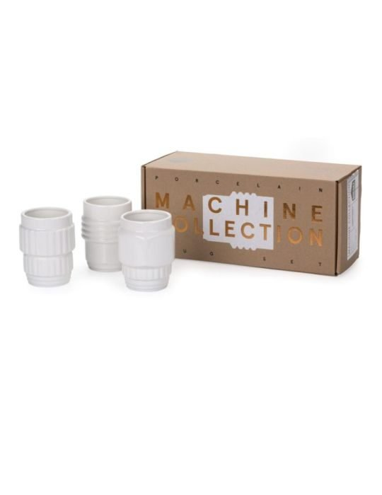 Seletti Machine Collection cup design white set