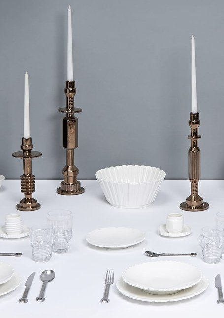 Seletti - Antique Bronze Large Transmission Candlestick